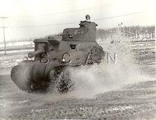 WWII US Press Photo- Panzer Tank- Armor- M3 General Grant Tank- Lee Tank- 1942