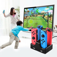1pc For Nintendo Switch Joy-Con Controller USB 4Port Charger Stand Charging Dock