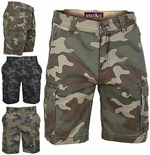 MENS ARMY CASUAL WORK CARGO COMBAT CAMOUFLAGE SHORTS COTTON CHINO HALF PANT  CAMO 4f1d0060da3