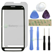 Black Glass Replacement+LCD Screen Protector for Samsung Galaxy S5 Active+Tools