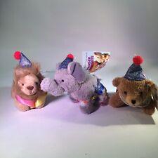 Circus Finger Puppets Lion Bear Elephant Aurora #06802 Lot of 3