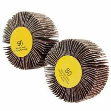 60/80 Grit 6mm Shank Flap Wheel Disc Sanding Abrasive Grinding Wheel for Rotary