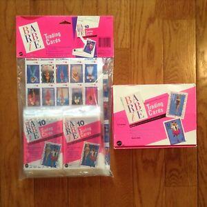 Vintage 1990 Mattel Barbie Collector Poster & Trading Cards 34 Packs of 10 Cards