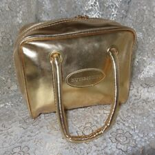 Nutrimetics Gold Cosmetic Bag Zipper Beauty Pouch purse