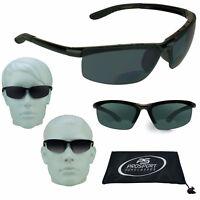 BIFOCAL Reading Sunglasses Dark Sun Reader Sport Golf Cycling Tennis 1.0 3.0 3.5