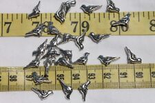 7mm Tibetan Style Alloy Bird Charm Antique Silver  25 Birds Crafts Jewelry/RS73