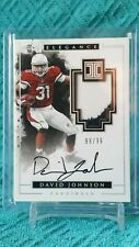 2016 Impeccable David Johnson 99/99 Player Worn Material on card Auto 3card set
