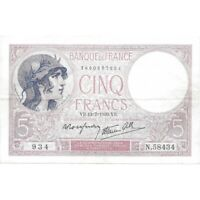 1939 FRANCE 5 FRANCS PICK 83 - NICE HIGH GRADE CIRC COLLECTOR NOTE! -d3008csx2