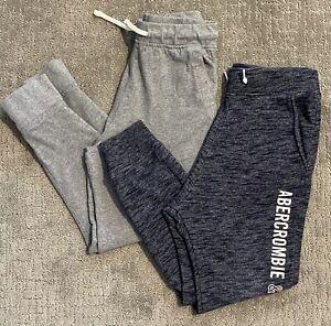 Boys Size 9/10 Navy & Gray Jogger Sweat Pants ABERCROMBIE KIDS & J.CREW CREWCUTS