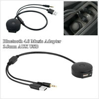 Car Bluetooth 4.0 Music Audio Adapter 3.5mm AUX USB Cable For BMW & Mini Copper