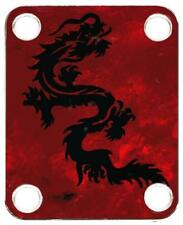 Neck Plate for Fender Guitar Color Graphic P J Bass Strat Tele Dragon 1