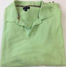 Mens Burberry Golf Check Trim Performance Green Golf Polo Shirt Size Large L