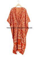 Indian Cotton Boho Caftan Night Dress Kaftan Hippie Beach Wear Poncho Short Maxi