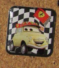 "A71 VINTAGE PIN Disney MOVIE CARS PLASTIC TOP 0.7"" PROMO CAREFOUR LUIGI"
