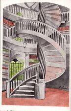 Weimar, freistehende Wendeltreppe der Bibliothek, 1938