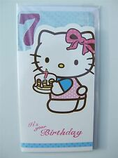 Hello kitty Birthday card for a 7 (SEVEN) year old by Gemma - 205282