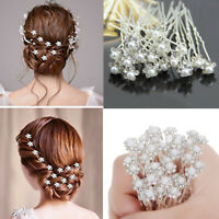 40Pcs Wedding Bridal Pearl Flower Crystal Hair Pins Clips Bridesmaid Accessories