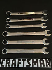 NEW CRAFTSMAN 6pc SILVER FINISHED COMBINATION WRENCH SET ~ METRIC & STANDARD