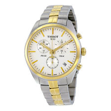Tissot PR100 Chronograph White Dial Two-tone Mens Watch T1014172203100