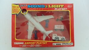 TWA Airport Playset by Remco  Sound & Light NIB: Try Me Button Still Works