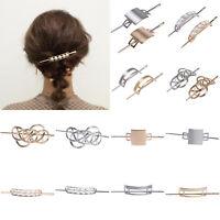Women's Pearl Metal Hair Sticks Holder Barrettes Hair Clips Pins Accessories