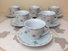 More details for queens royal horticultural society rosemoor 6 x cups & saucer mint condition