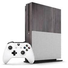 Dark Wood Geometric Parquet Xbox One S Skin / Xbox One S Skin Sticker Cover
