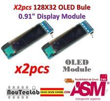 2pcs 0.91 Inch Blue 128X32 OLED LCD LED Display Module