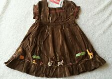 NWT GYMBOREE SAVANNA SUNSET BROWN ANIMALS DRESS 12-18 mo RARE NEW
