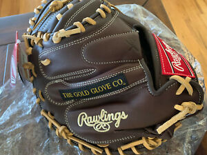 "New Rare Limited Rawlings Gamer Catchers Mitt 32"" GCM32PT HRM"