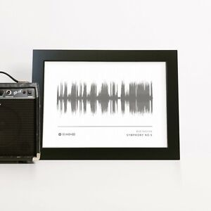 Sound Wave Print Birthday Gift Personalised Wedding Present Anniversary For Him