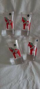 Sagaform 5016627 Dala Horse Shot Glasses, 4-Pack