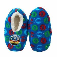 THOMAS the TANK & FRIENDS - COZY SLIPPERS SHOES SIZE 2-4/FITS SHOE SZ 4-7 *NEW*