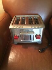 WOLF GOURMET 4 SLICE TOASTER - NEW No BOX - RED KNOB - WGTR104S