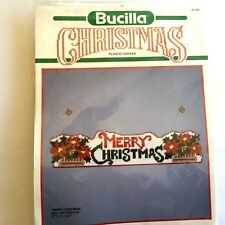 "Bucilla Merry Christmas Plastic Canvas Wall Decoration, 5.5"" x 24"", New"