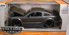 GRAY 2006 FORD MUSTANG GT JADA BIG TIME MUSCLE 1:24 SCALE DIECAST METAL MODEL