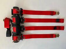 Juego de 5 cinturones de seguridad Rojos Sport EVO style BMW M3 E46 seatbelt