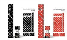4JUUL Skin Decal Wrap for Vape - Supreme Louis Vuitton - 2 Pack