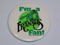 I'm a Francus Fan Frog Pin Vintage Button Round Pinback 1975 Fisher Scientific