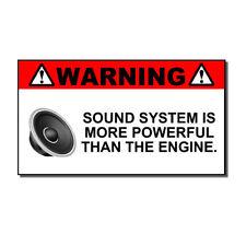 Funny Sound System Warning Sticker Set Vinyl Decal Sub woofer JDM Car Woofer m39