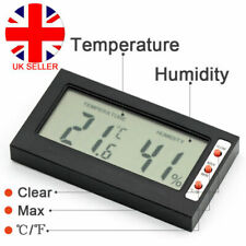 Digital LCD Clock Thermometer Hygrometer Humidity Meter Home Kitchen Room Car UK
