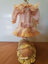 Lovely Pink Silk Dress & Hat for Antique/Other Doll fits Bleuette