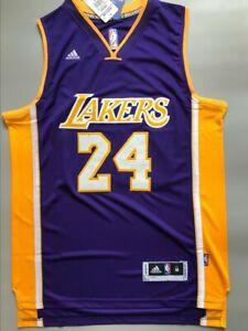 NWT Men's Kobe Bryant #24 Los Angeles Lakers Swingman Jersey Purple Size S-XXL