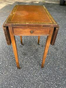 Vintage Ferguson Bros. MFG CO. No. 804 Small Drop Leaf End Side Table