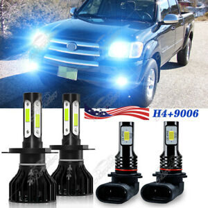 4Pcs For Toyota Tundra 2000-2005 2006 LED Bulbs Kit Headlight High Low+Fog Light