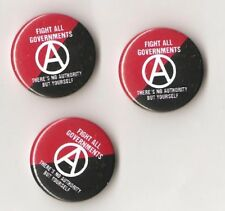 1x Fight all governments Button Anarcho Punk Crust Anarchie GNWP HC Anarko 161