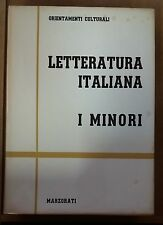 55364 Letteratura Italiana: I Minori (In 4 volumi) - Marzorati 1961 (I ediz)