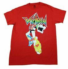 Voltron Cartoon The Last One Retro T-Shirt Mens Red Retro Tv Show Mens Adult Tee