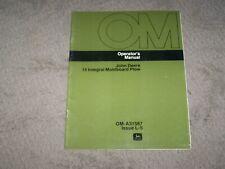 John Deere Used 15 Integral Moldboard Plow Operators Manual A8