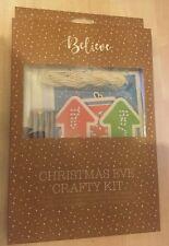 NUOVO con confezione Nuovi Vigilia Di Natale astuto KIT-Artigianato di occupare-PASTELLI CARTELLI adesivi